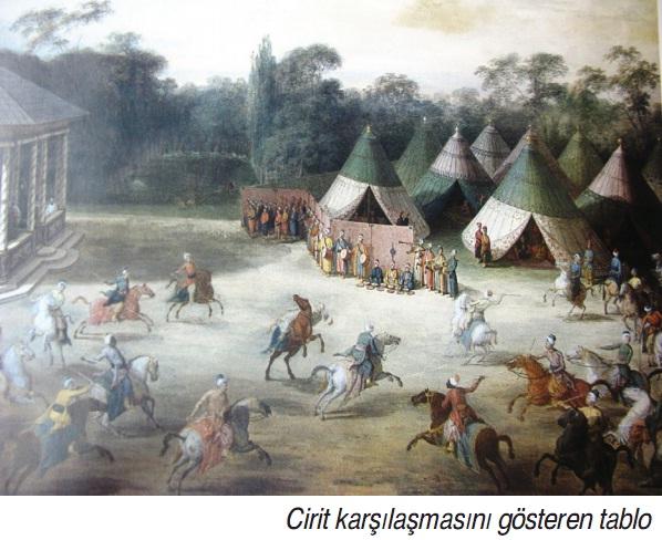 Cirit karşılaşmasını gösteren tablo