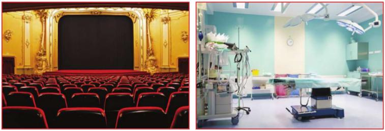 ses yalıtılmış sinema ve ameliyathane