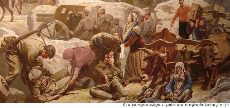 Kurtuluş savaşında paylaşma ve yardımlaşma