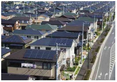 güneş panelleri ev çatılarında