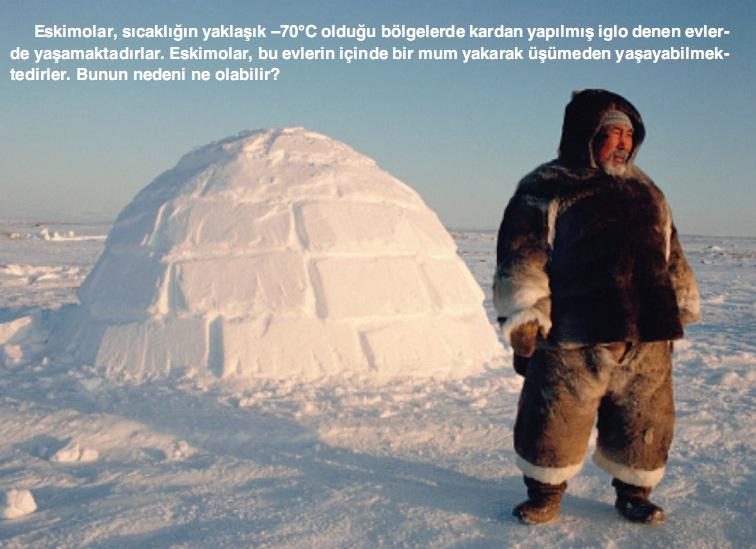 yalıtım örneği eskimo evleri