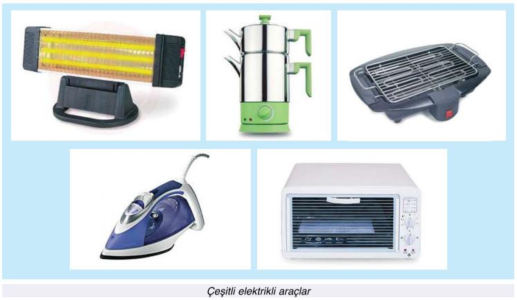 çeşitli elektrikli araçlar