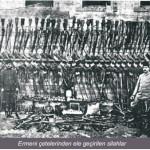 Ermeni çetelerinden ele geçirilen silahlar