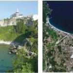 Falez ve kıyı kordonu örneği