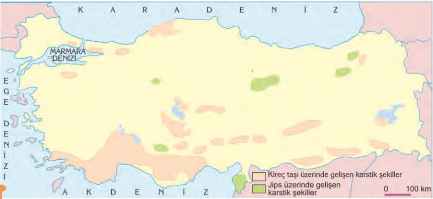Türkiyedeki karstik arazilerin dağılışı