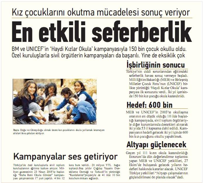 eğitim kurumu ile ilgili gazete haberi